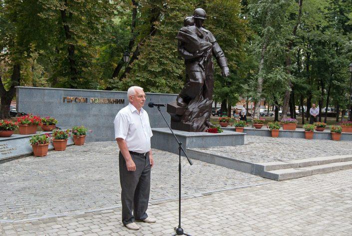 Капитальная реконструкция памятника пожарному